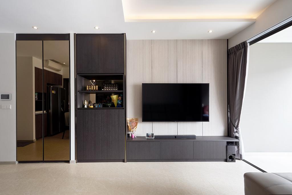 Contemporary, Condo, Living Room, iNZ Residence, Interior Designer, Roughsketch