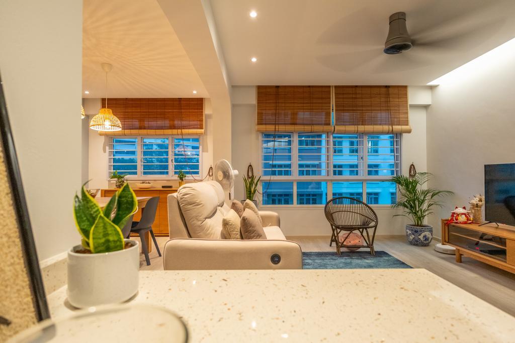 Contemporary, HDB, Living Room, Yishun Avenue 9, Interior Designer, Roughsketch, Modern