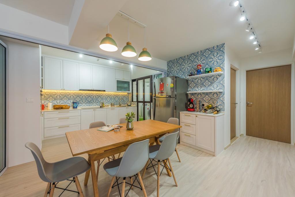 Contemporary, HDB, Dining Room, Tampines North Drive 1, Interior Designer, Archive Design