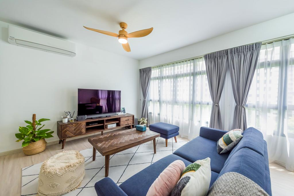 Contemporary, HDB, Living Room, Tampines North Drive 1, Interior Designer, Archive Design
