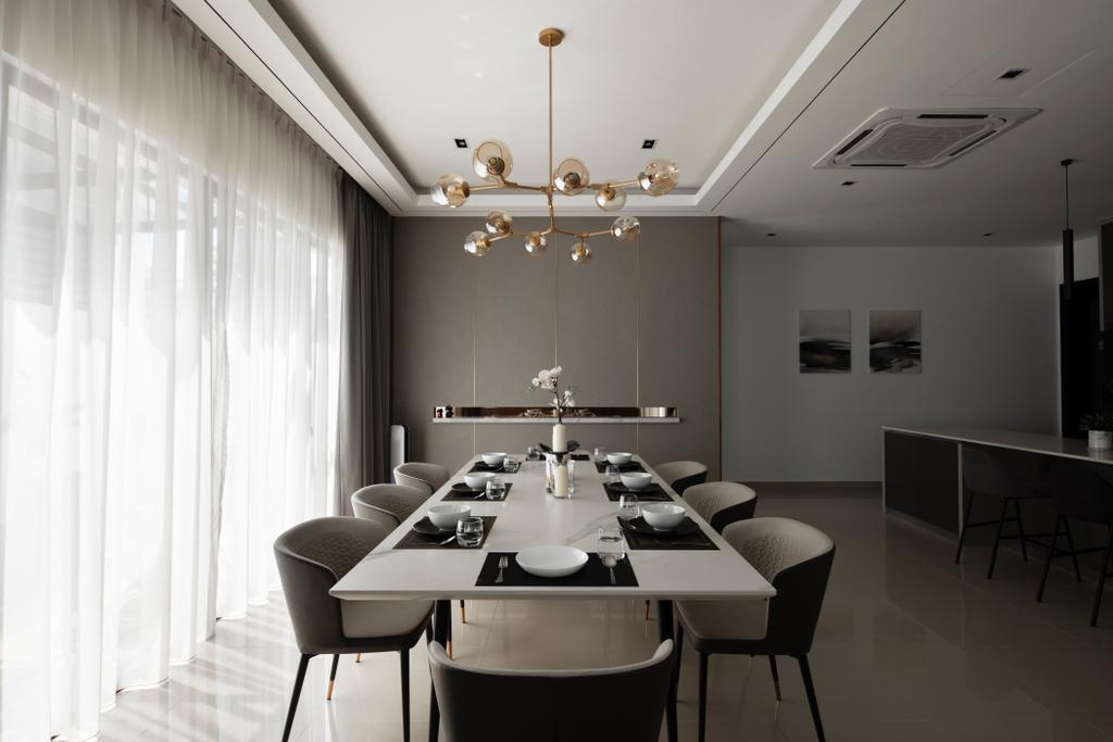 Modern, Landed, Dining Room, Jade Hills, Kajang, Interior Designer, Surface R Sdn. Bhd., Contemporary