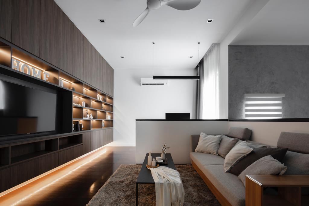Modern, Landed, Living Room, Jade Hills, Kajang, Interior Designer, Surface R Sdn. Bhd., Contemporary