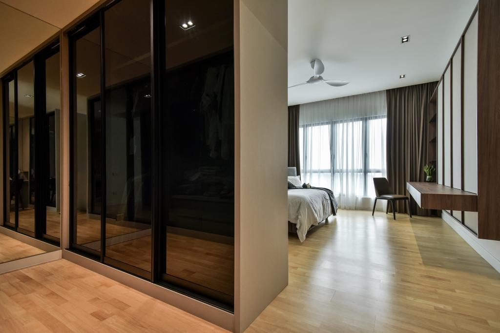 Modern, Landed, Bedroom, R22, Mont Kiara, Interior Designer, Surface R Sdn. Bhd., Contemporary