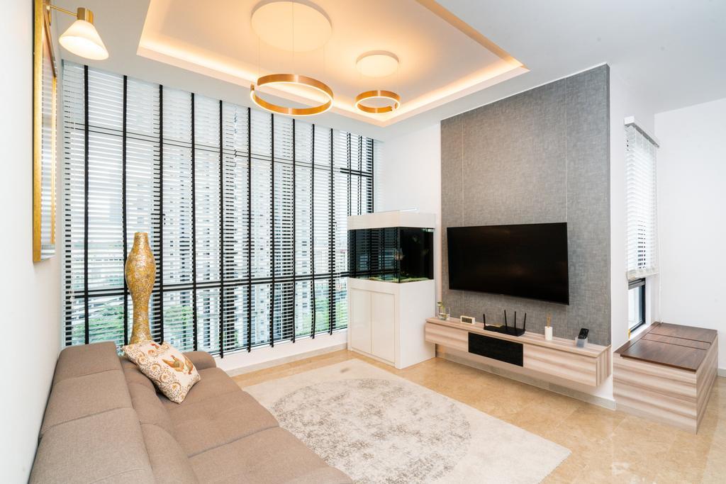 Contemporary, Condo, Living Room, Regent Heights, Interior Designer, ChengYi Interior Design