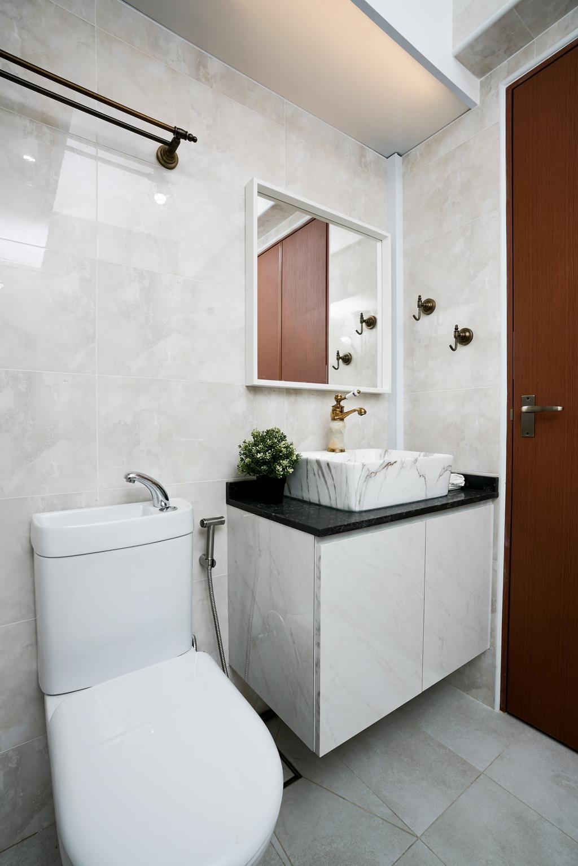Contemporary, HDB, Bathroom, Tampines North Drive 1 (Block 614B), Interior Designer, ChengYi Interior Design