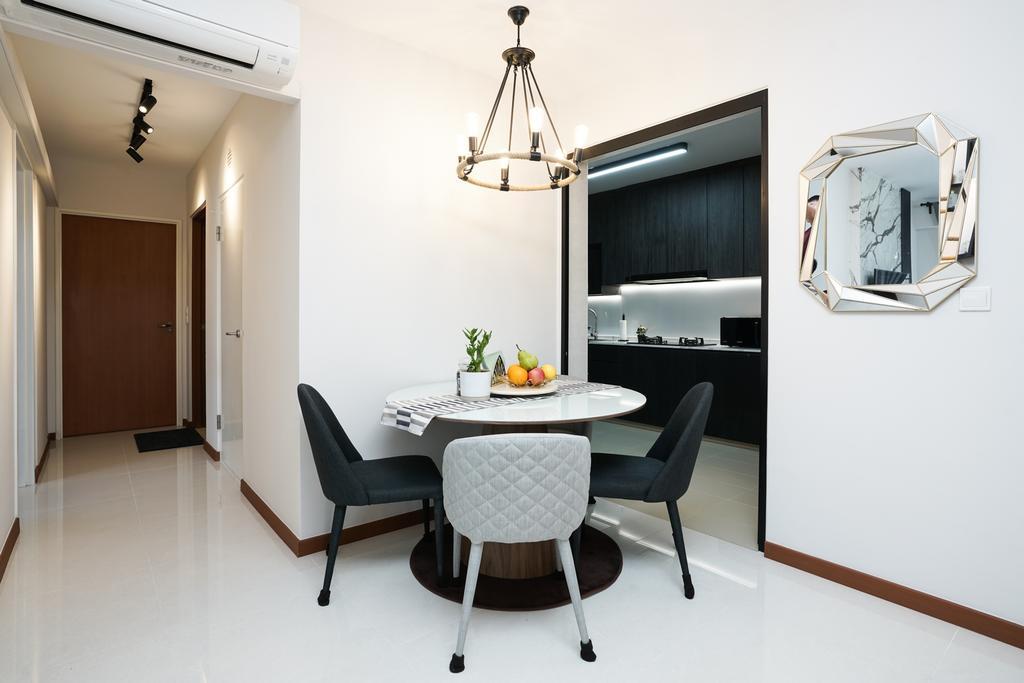 Contemporary, HDB, Dining Room, Tampines North Drive 1 (Block 614B), Interior Designer, ChengYi Interior Design