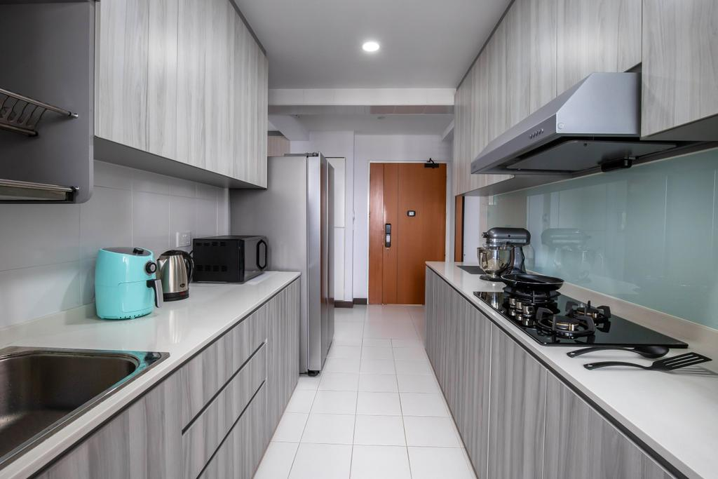 Modern, HDB, Kitchen, Fernvale Link, Interior Designer, Yang's Inspiration Design, Contemporary