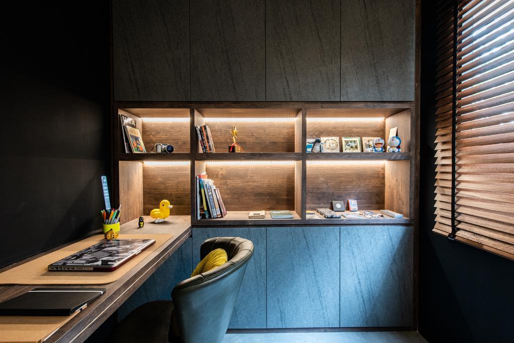 Contemporary, HDB, Study, Ghim Moh Road, Interior Designer, Dyel Design