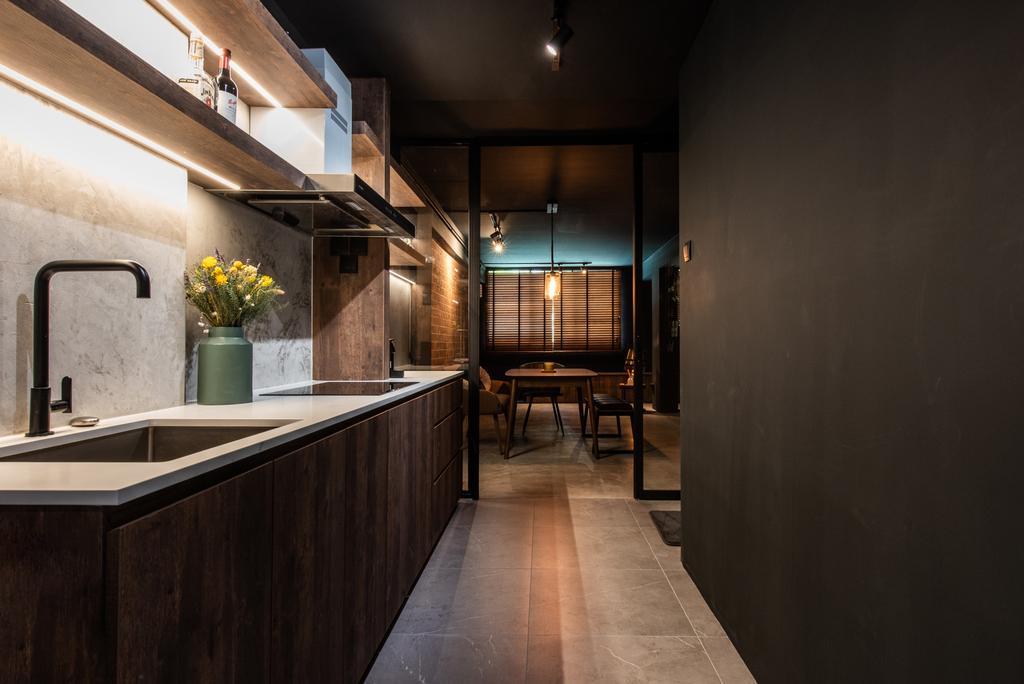 Contemporary, HDB, Kitchen, Ghim Moh Road, Interior Designer, Dyel Design