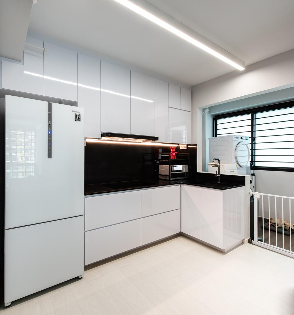 Contemporary, HDB, Kitchen, Havelock Road, Interior Designer, Dyel Design