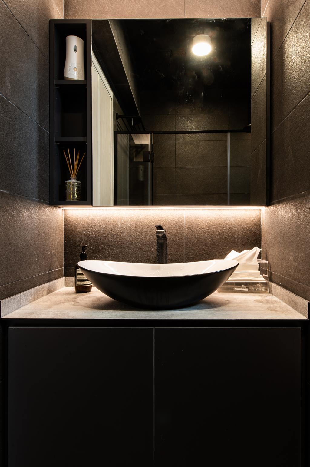 Contemporary, HDB, Bathroom, Havelock Road, Interior Designer, Dyel Design