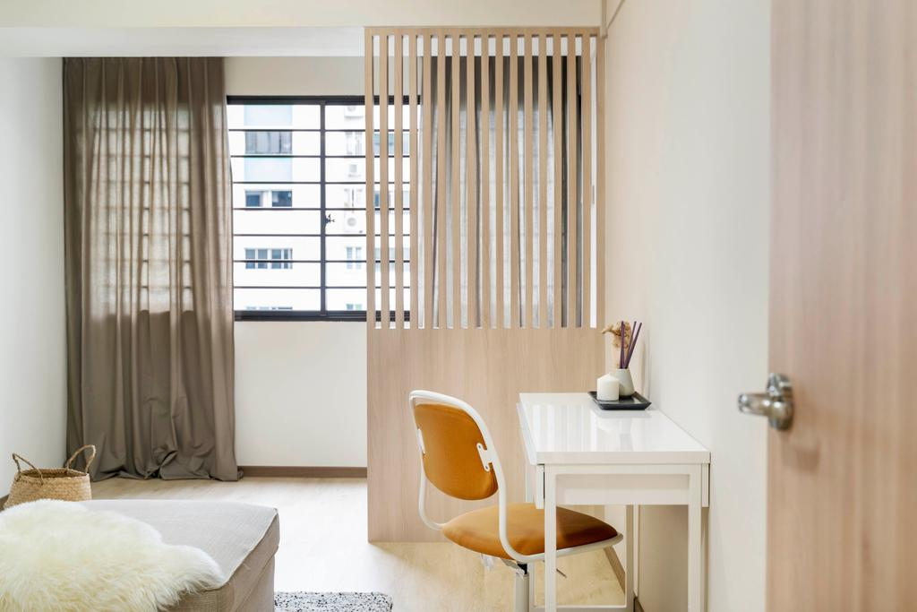 Modern, HDB, Bedroom, Commonwealth Avenue, Interior Designer, Livspace, Scandinavian