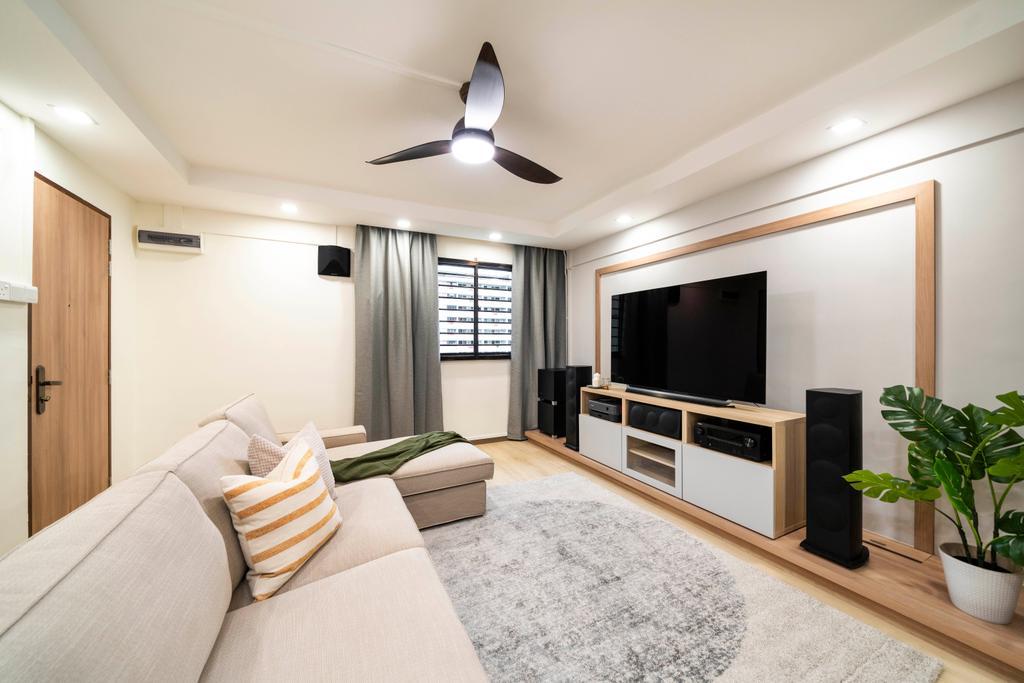 Modern, HDB, Living Room, Commonwealth Avenue, Interior Designer, Livspace, Scandinavian