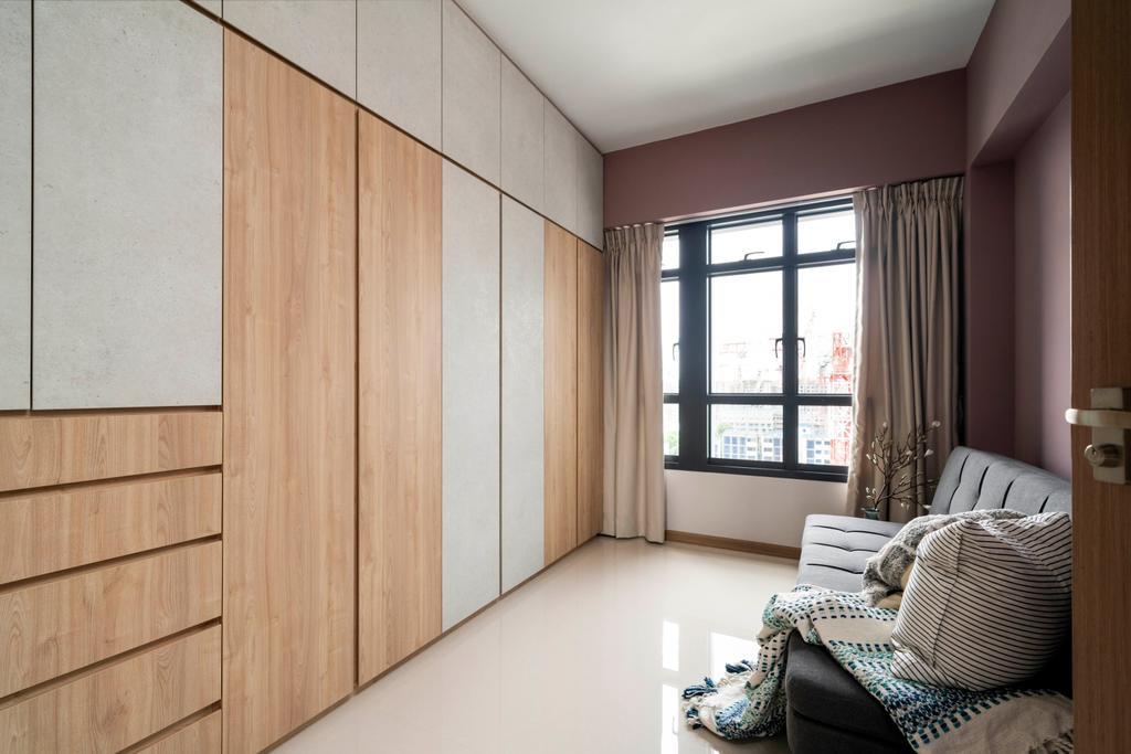 Contemporary, HDB, Bedroom, Bidadari Park, Interior Designer, Livspace
