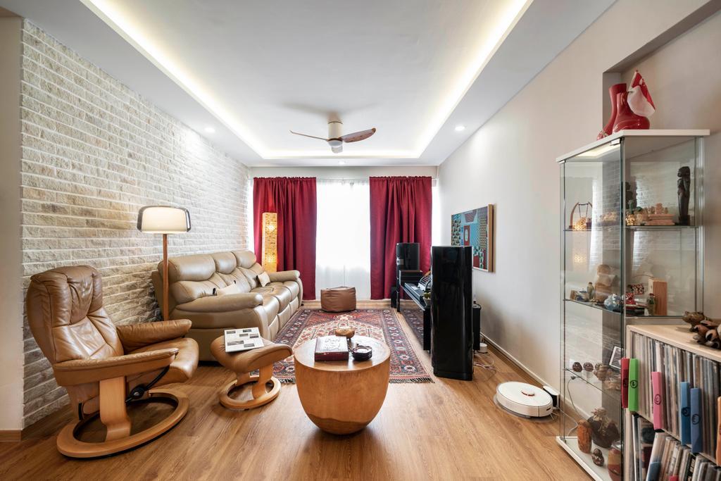 Modern, HDB, Living Room, Bedok Reservoir, Interior Designer, Livspace