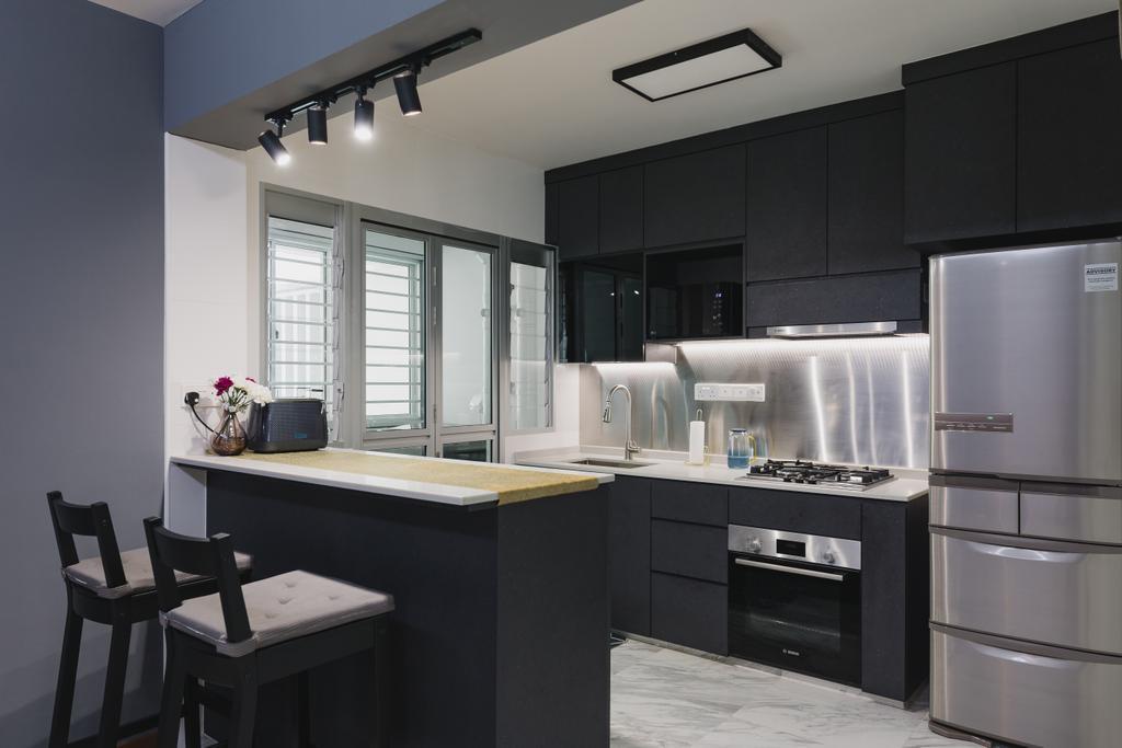 Contemporary, HDB, Kitchen, Canberra Street, Interior Designer, Home Access Interior