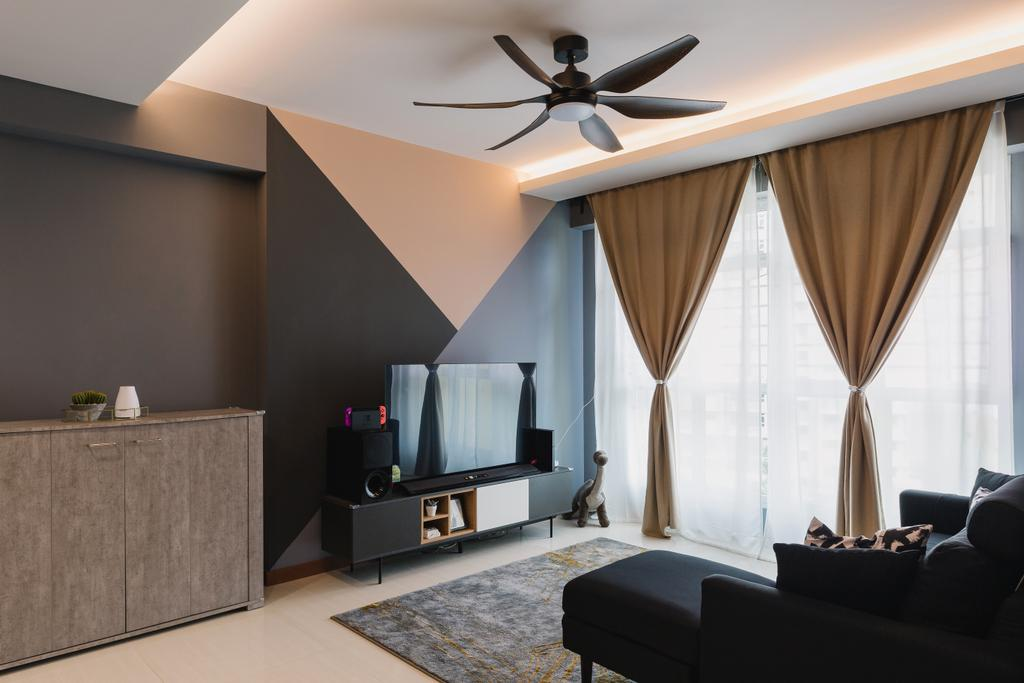 Contemporary, HDB, Living Room, Canberra Street, Interior Designer, Home Access Interior