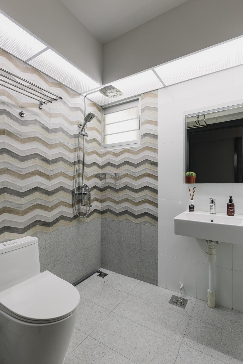 Contemporary, HDB, Bathroom, Canberra Street, Interior Designer, Home Access Interior