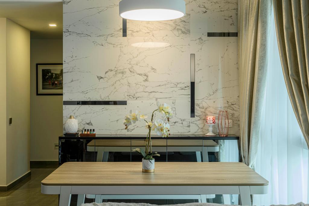 Modern, Condo, Dining Room, Botannia, Interior Designer, i. Haven Design