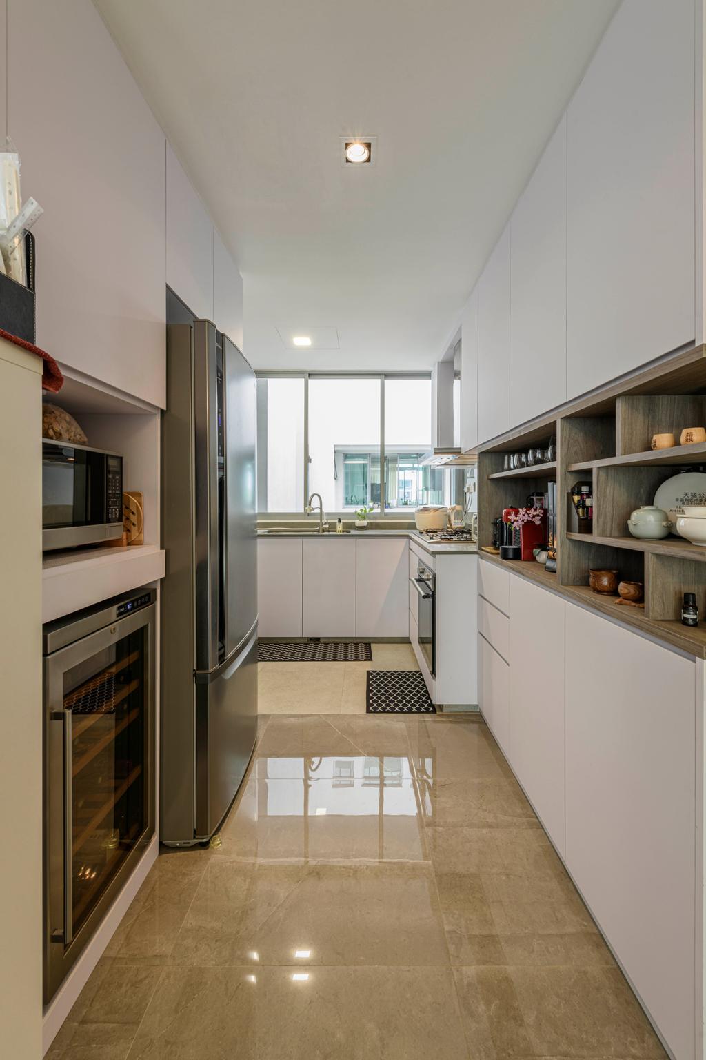 Modern, Condo, Kitchen, Botannia, Interior Designer, i. Haven Design