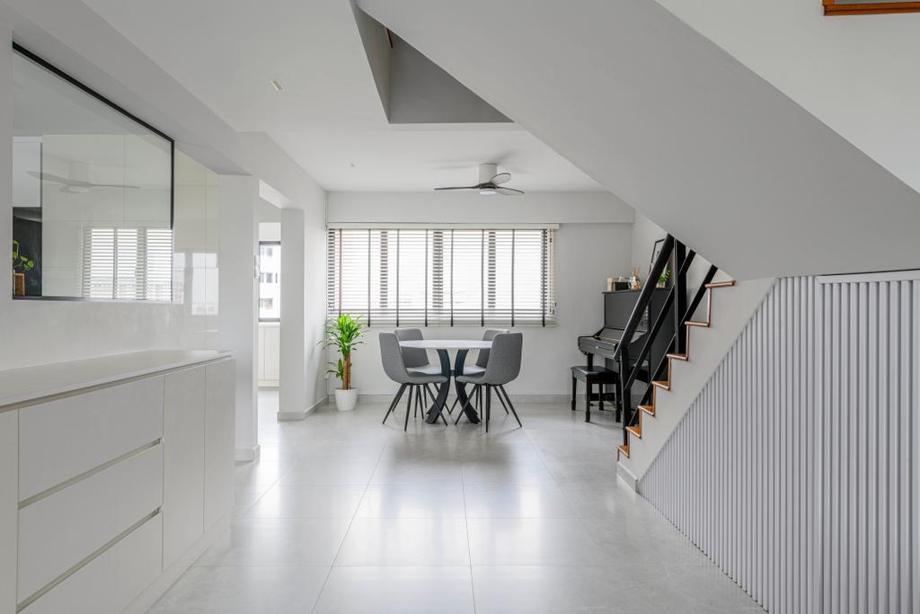 Contemporary, HDB, Dining Room, Jurong West Street 41, Interior Designer, Ovon Design