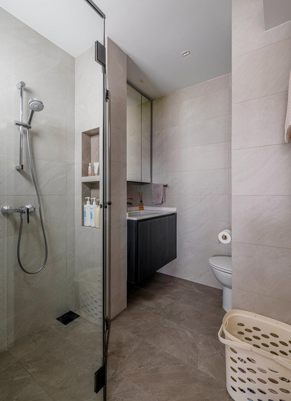 Contemporary, HDB, Bathroom, Jurong West Street 41, Interior Designer, Ovon Design