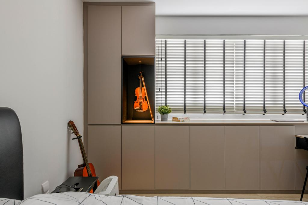 Contemporary, HDB, Bedroom, Jurong West Street 41, Interior Designer, Ovon Design