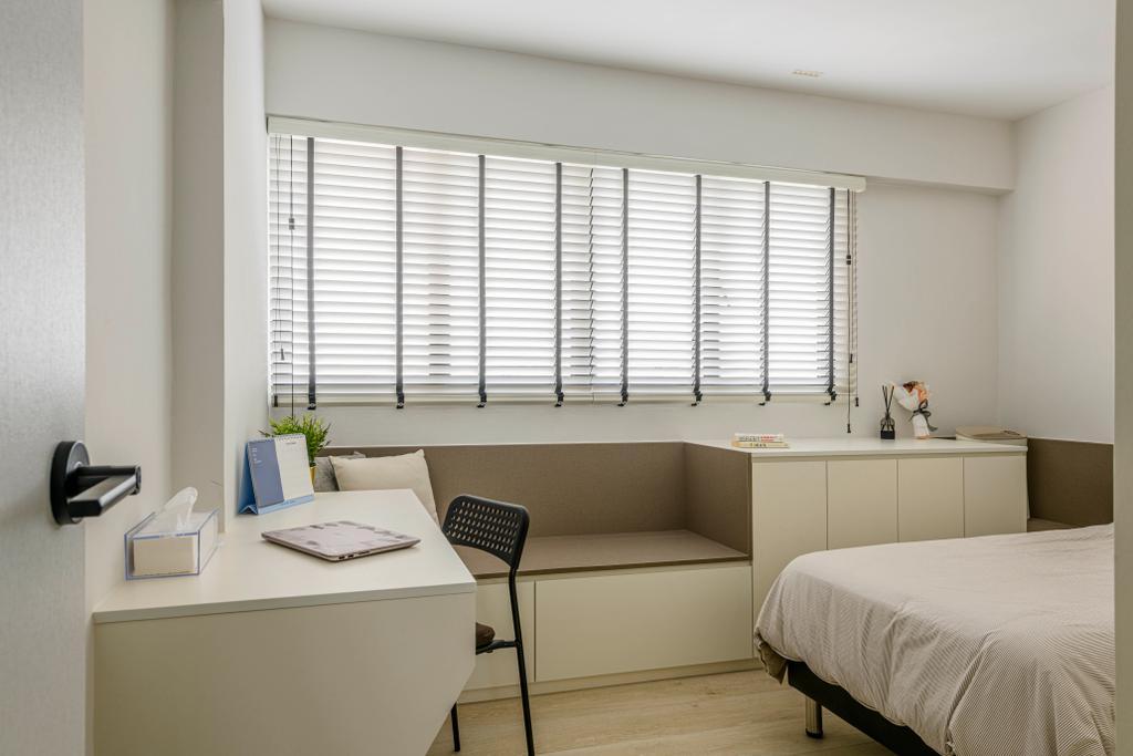 Contemporary, HDB, Study, Jurong West Street 41, Interior Designer, Ovon Design, Window Nook, Window Seat