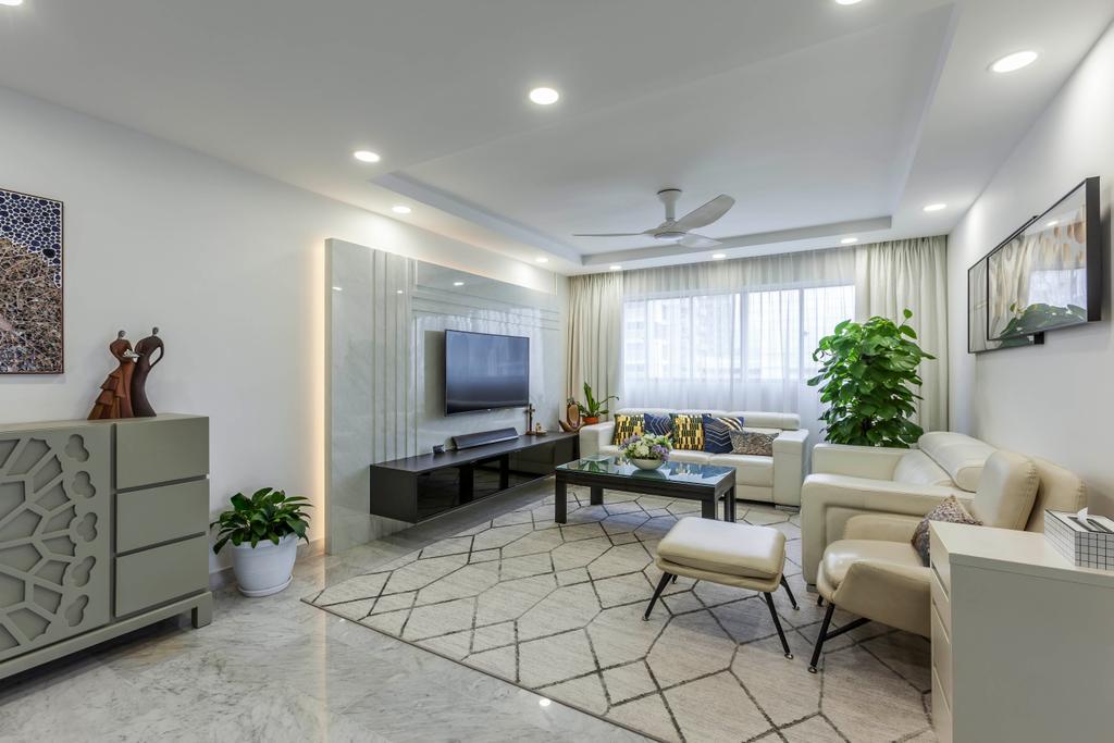 Modern, HDB, Living Room, Clementi Street 1, Interior Designer, Ovon Design