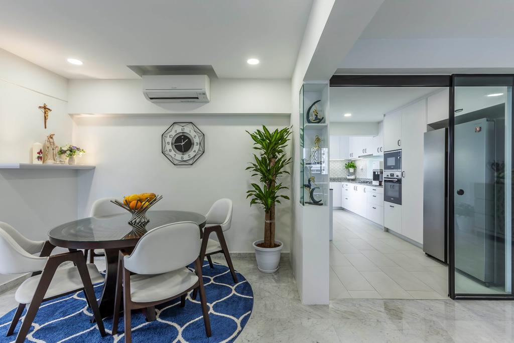 Modern, HDB, Dining Room, Clementi Street 1, Interior Designer, Ovon Design