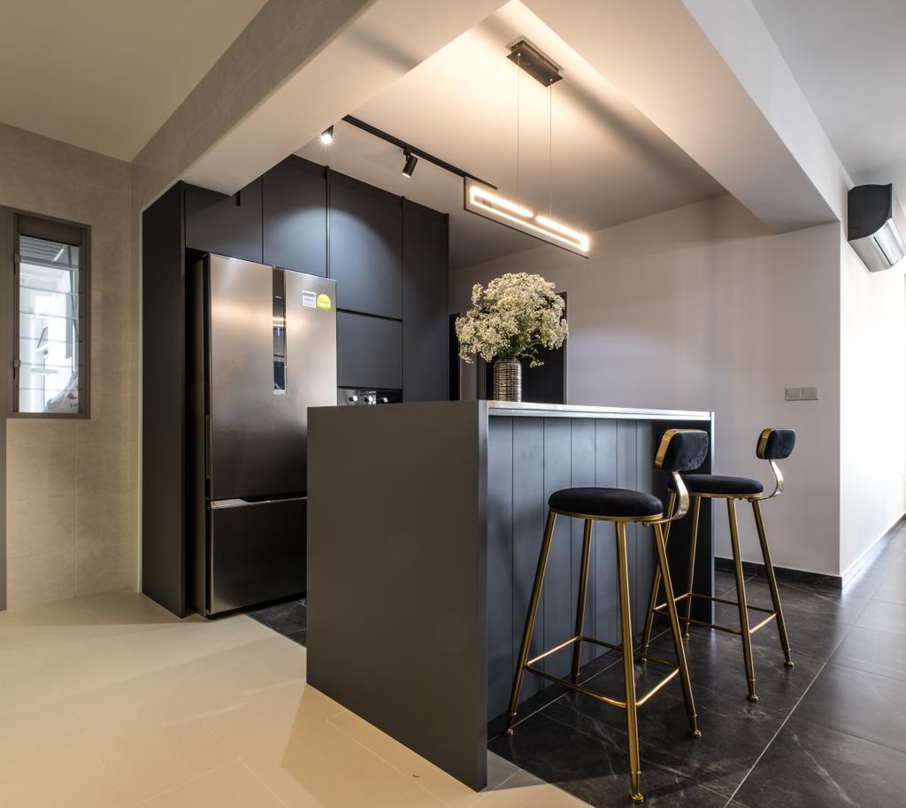 Contemporary, HDB, Kitchen, Tampines North Drive 1, Interior Designer, United Team Lifestyle