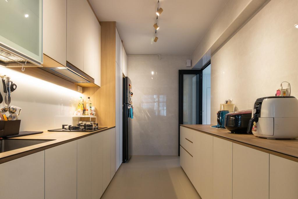 Modern, HDB, Kitchen, Tampines North Drive 1, Interior Designer, 9 Creation, Contemporary