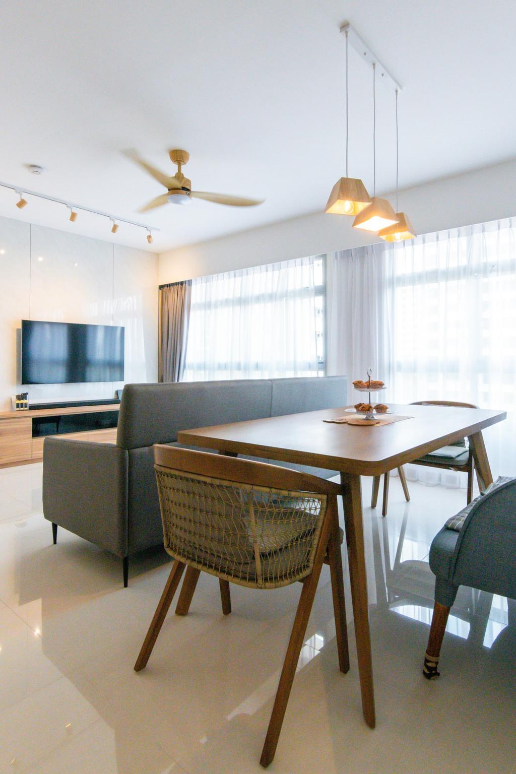 Modern, HDB, Dining Room, Tampines North Drive 1, Interior Designer, 9 Creation, Contemporary