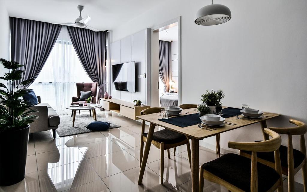Modern, Condo, Living Room, ARIA Luxury Residence (2203), Kuala Lumpur, Interior Designer, Viyest Interior Design, Contemporary