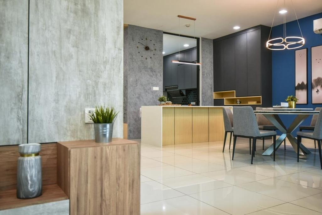 Modern, Landed, Dining Room, Setia Eco Glades, Cyberjaya, Interior Designer, Viyest Interior Design