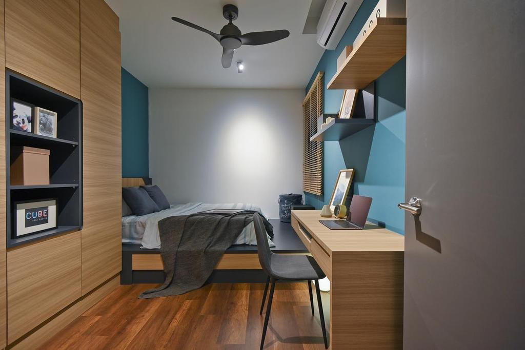 Modern, Condo, Bedroom, Menara Simfoni (Symphony Tower), Balakong, Interior Designer, Viyest Interior Design, Minimalistic