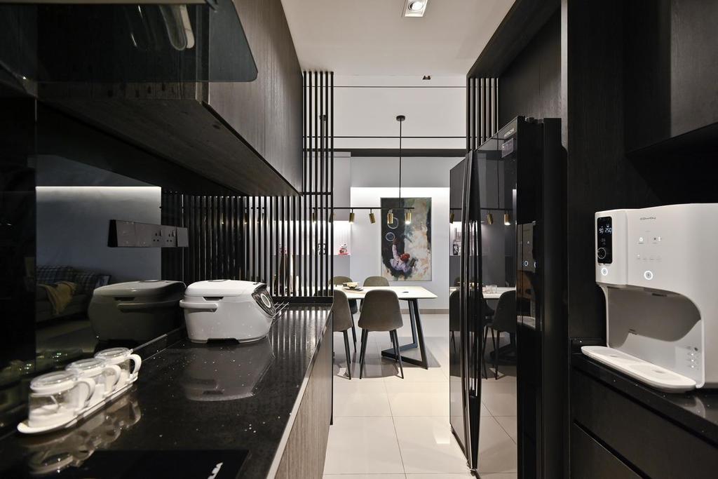 Modern, Condo, Kitchen, Menara Simfoni (Symphony Tower), Balakong, Interior Designer, Viyest Interior Design, Minimalistic