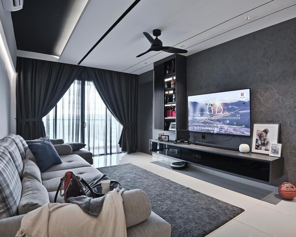 Modern, Condo, Menara Simfoni (Symphony Tower), Balakong, Interior Designer, Viyest Interior Design, Minimalistic