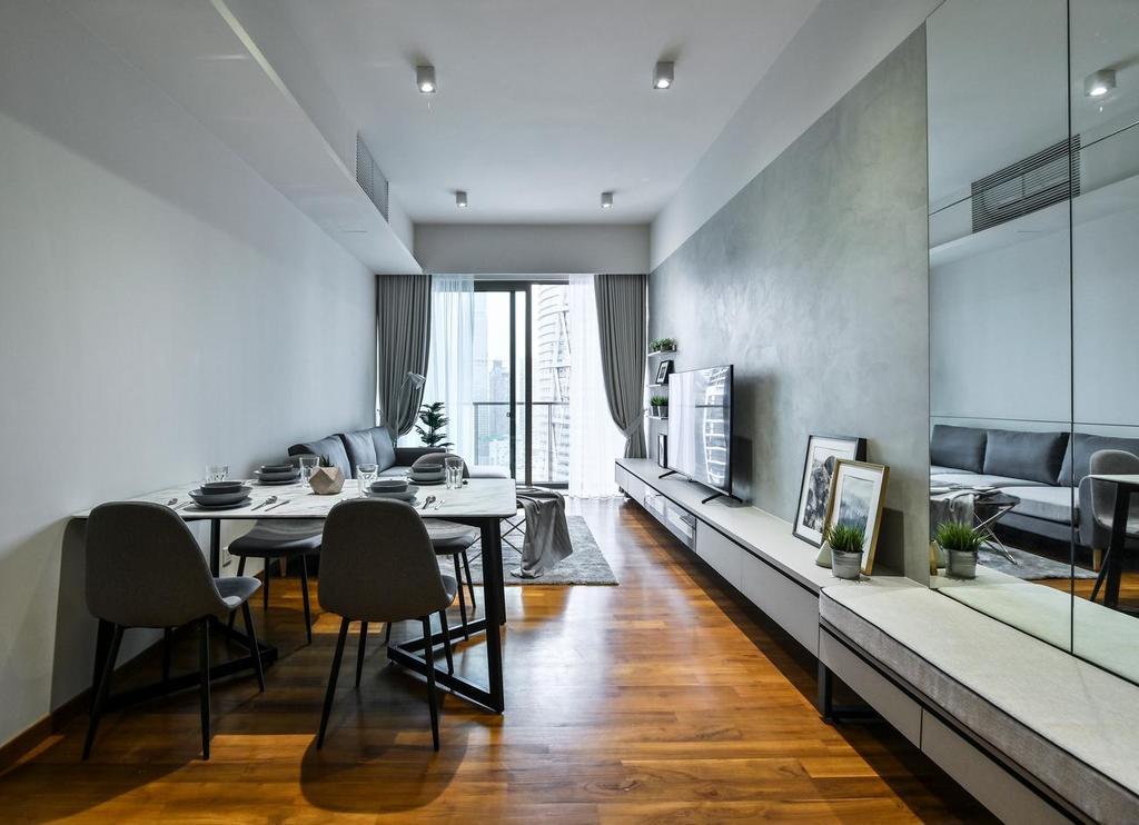 Minimalistic, Condo, Living Room, Stonor 3, KLCC, Interior Designer, Viyest Interior Design