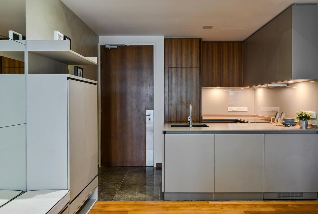 Minimalistic, Condo, Kitchen, Stonor 3, KLCC, Interior Designer, Viyest Interior Design