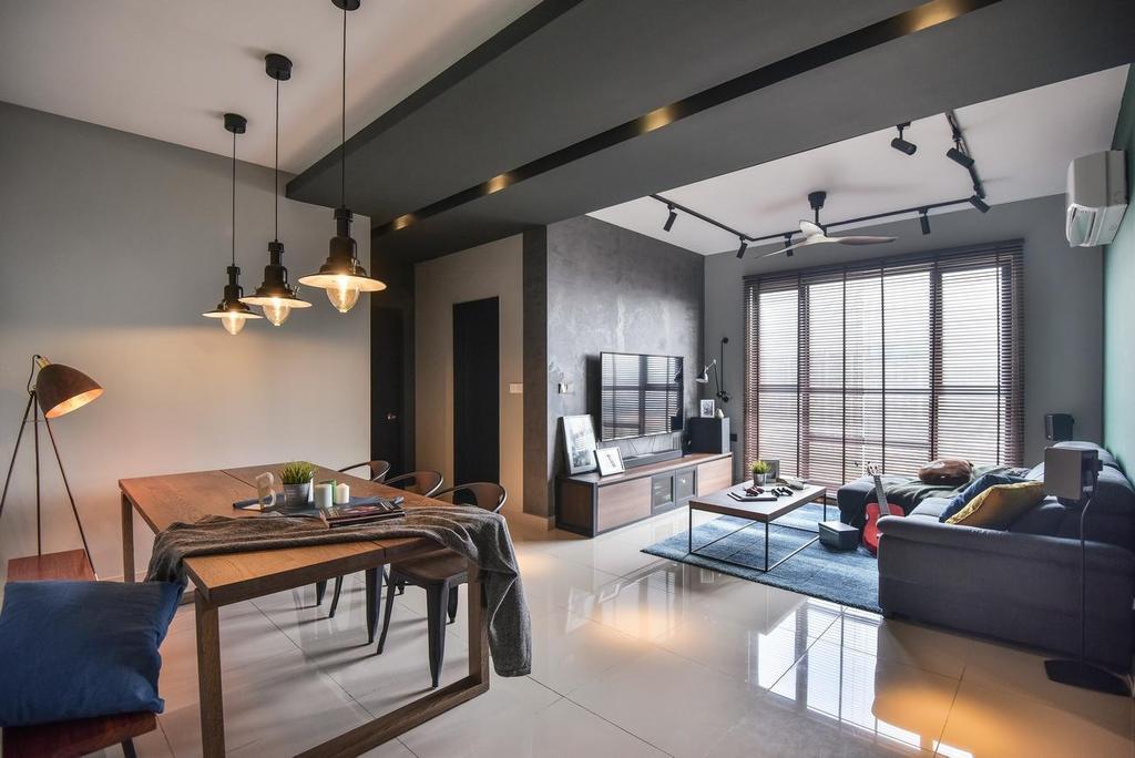 Contemporary, Condo, Dining Room, The Nest Residences, Kuala Lumpur, Interior Designer, Viyest Interior Design, Transitional