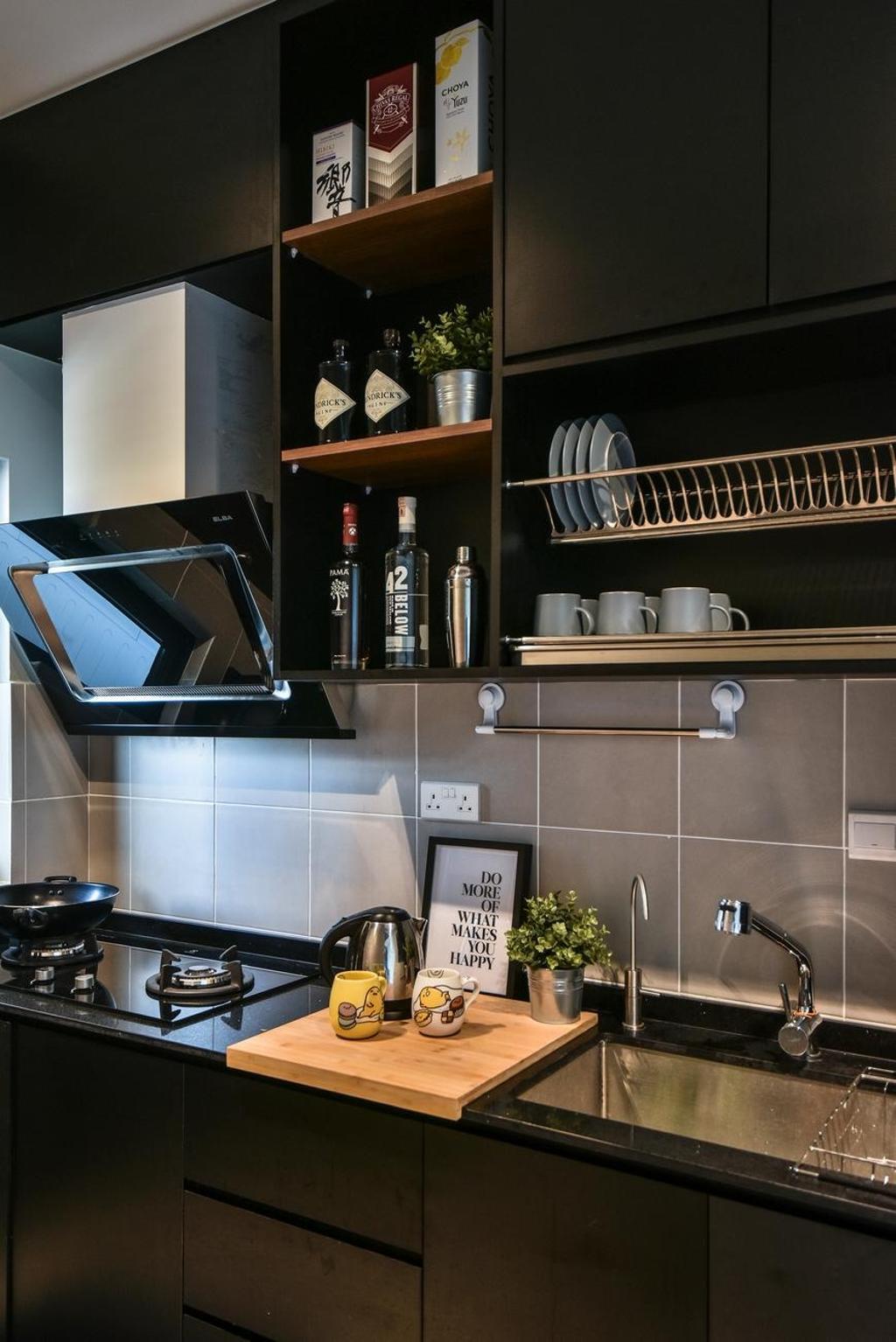 Contemporary, Condo, Kitchen, The Nest Residences, Kuala Lumpur, Interior Designer, Viyest Interior Design, Transitional