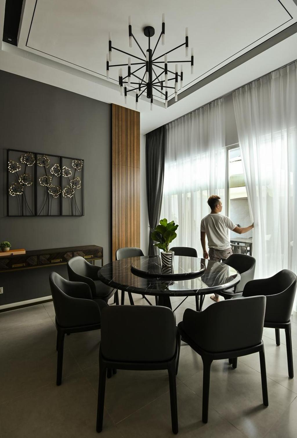 Modern, Landed, Dining Room, Beverly Heights, Ampang, Interior Designer, Viyest Interior Design, Contemporary, Retro