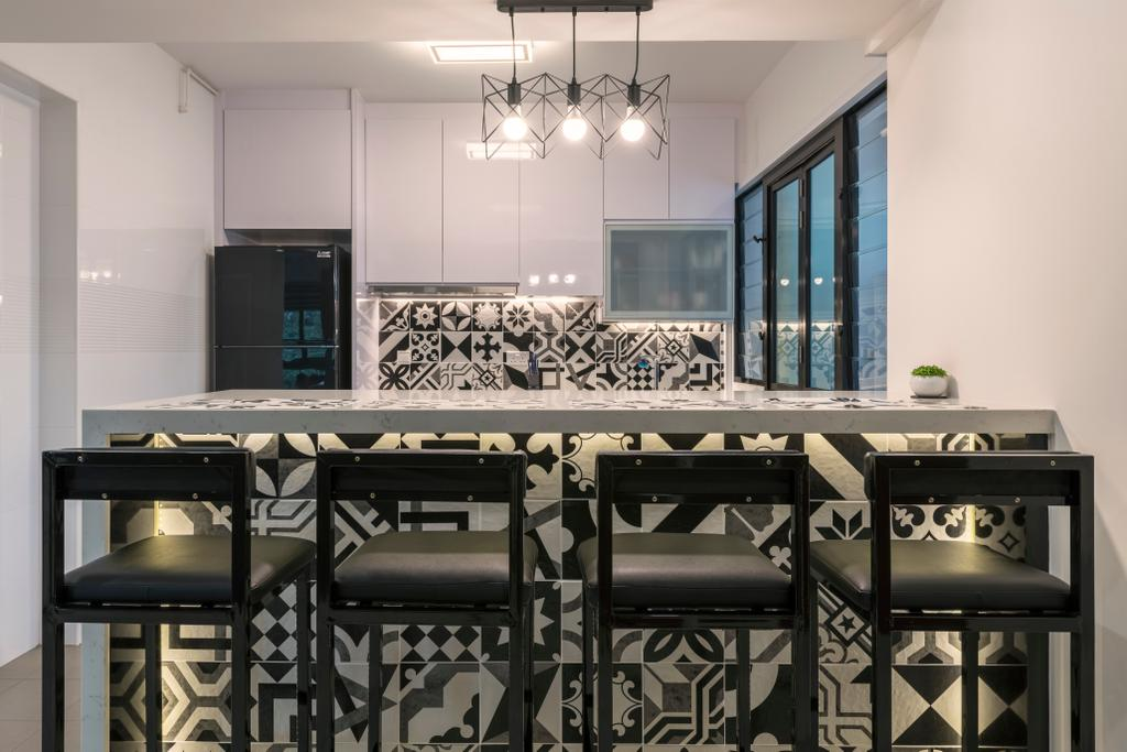 Modern, HDB, Kitchen, Yishun Ring Road, Interior Designer, Ace's Design