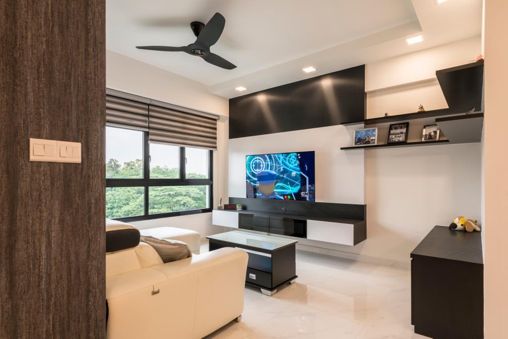 Modern, HDB, Living Room, Yishun Ring Road, Interior Designer, Ace's Design