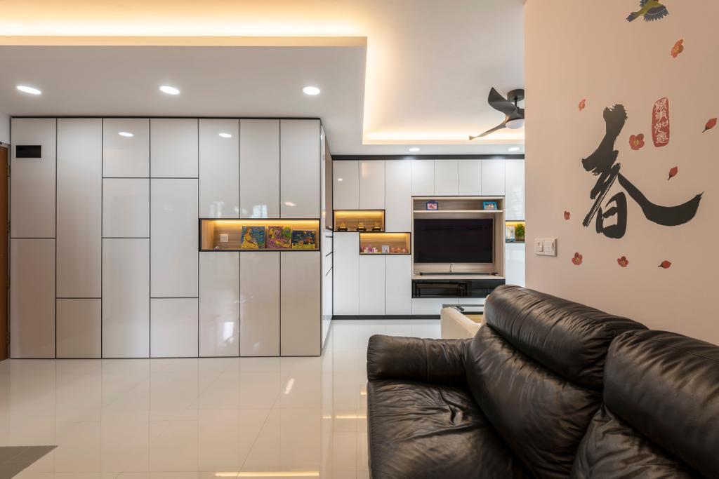 Modern, HDB, Living Room, Ang Mo Kio Street 51, Interior Designer, Ace's Design