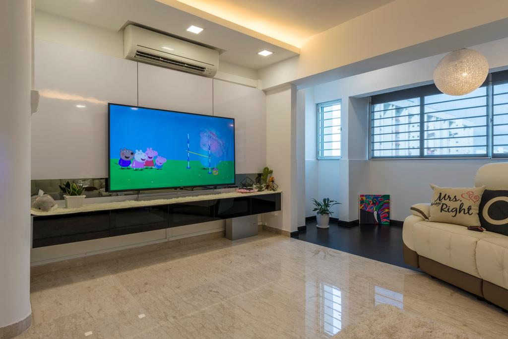 Modern, HDB, Living Room, Tampines Street 41, Interior Designer, Ace's Design