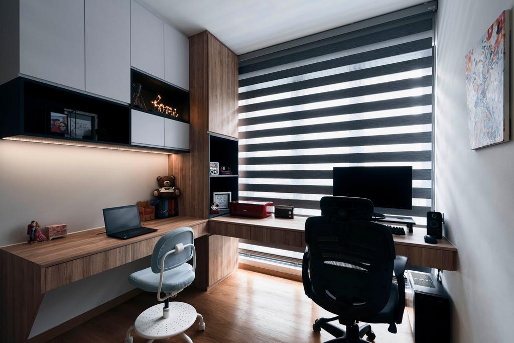 Contemporary, Condo, Study, Hundred Palms Residence, Interior Designer, Charlotte's Carpentry