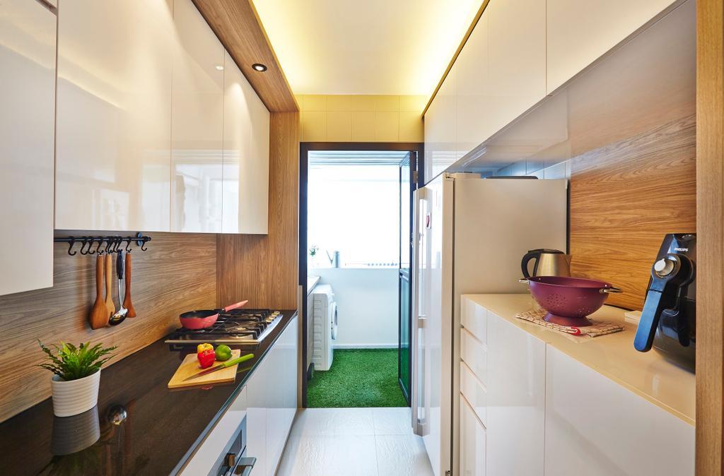Contemporary, HDB, Kitchen, Yishun Street 31, Interior Designer, Honeycomb Design Studio