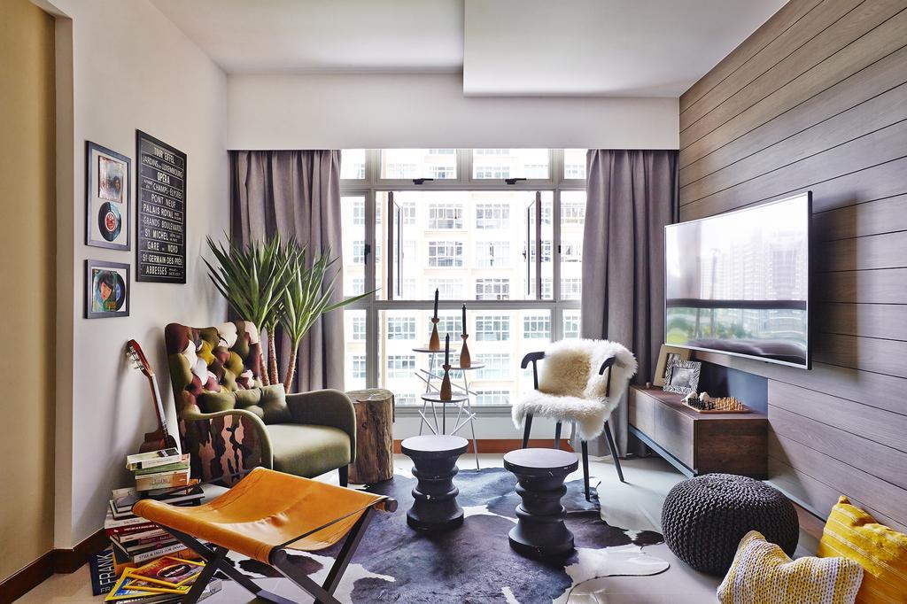 Contemporary, HDB, Living Room, Punggol Drive, Interior Designer, Honeycomb Design Studio
